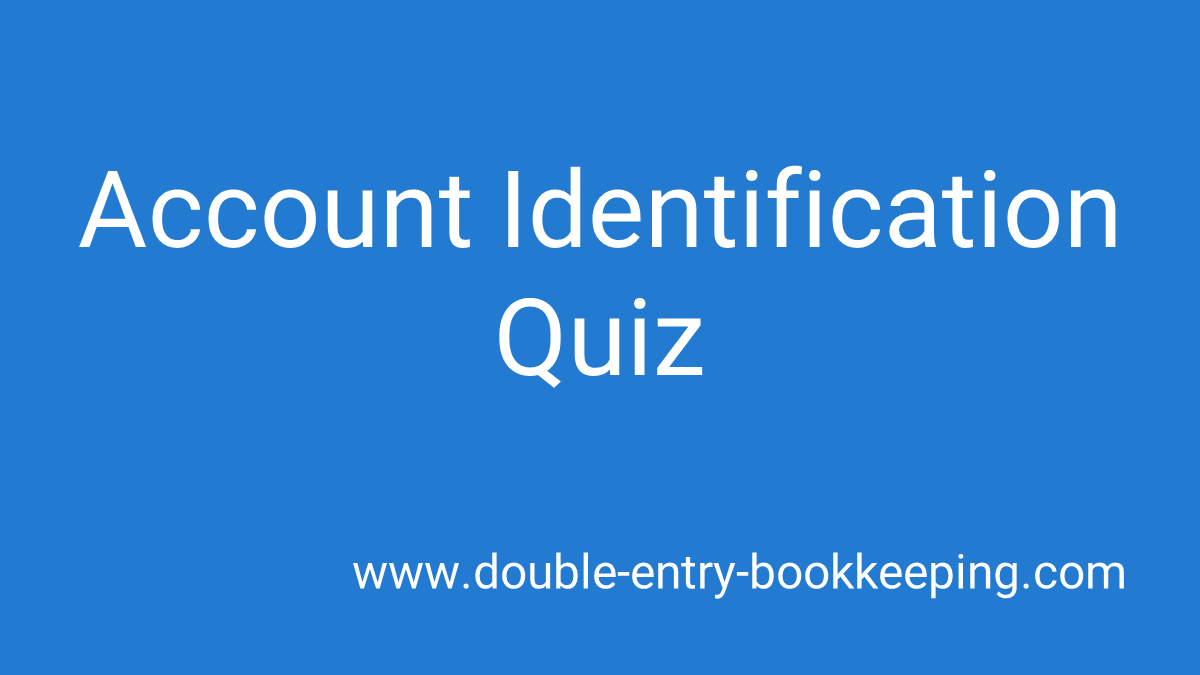 account identification quiz