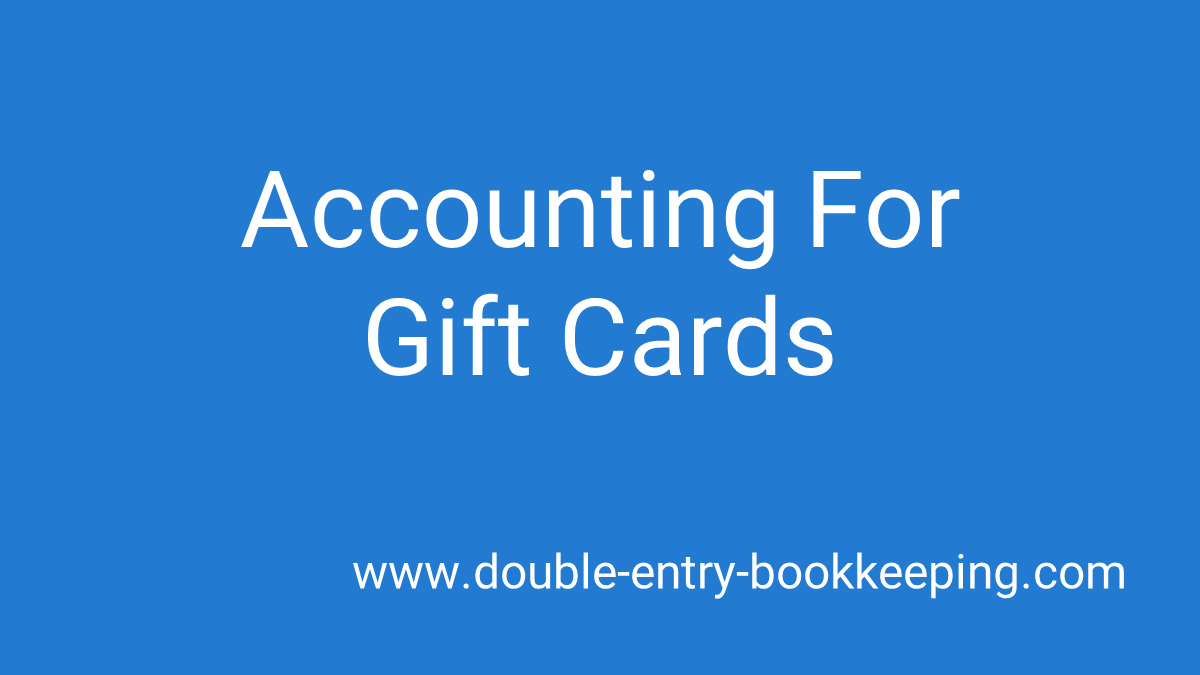 accounting for gift cards
