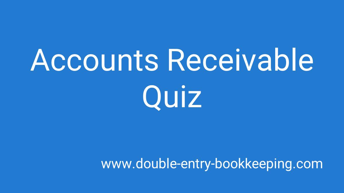 accounts receivable quiz