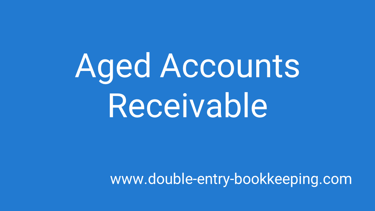 aged accounts receivable