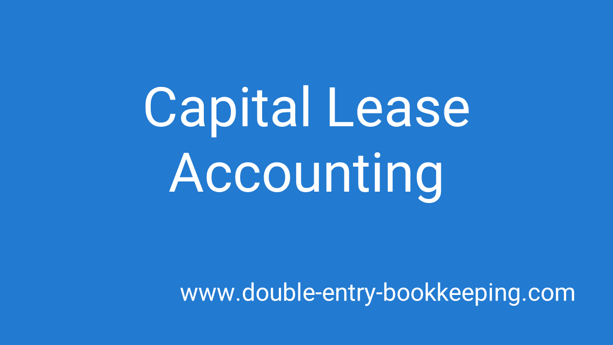 capital lease accounting