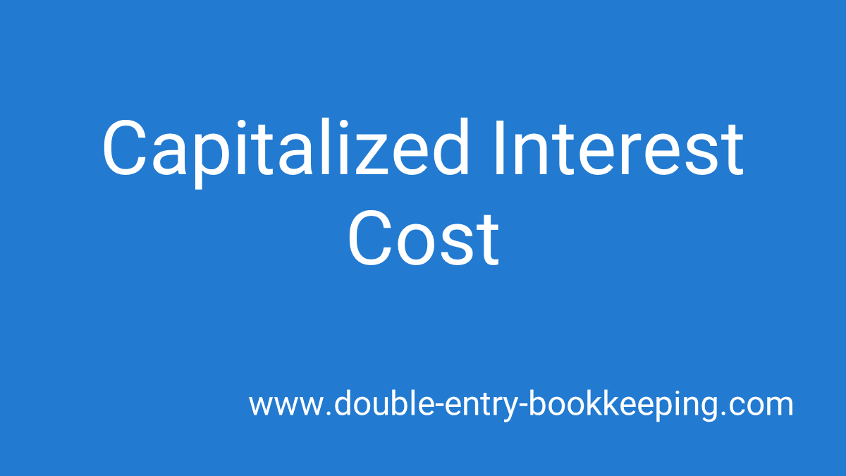 capitalized interest cost