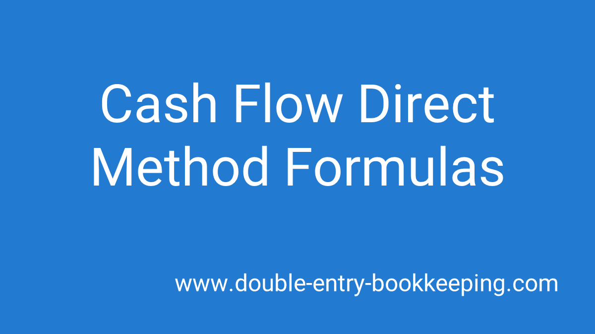 cash flow direct method formula
