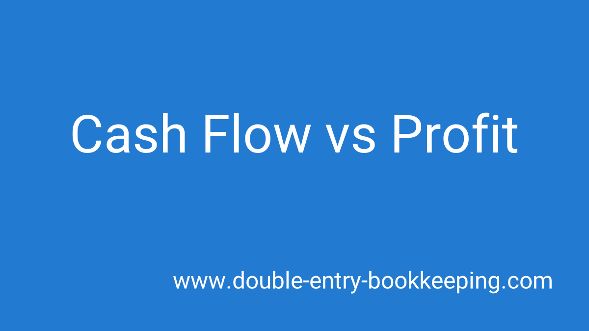 cash flow vs profit