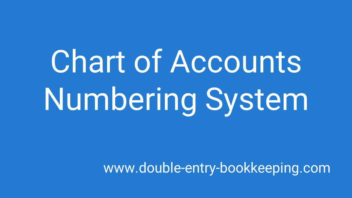 chart of accounts numbering system