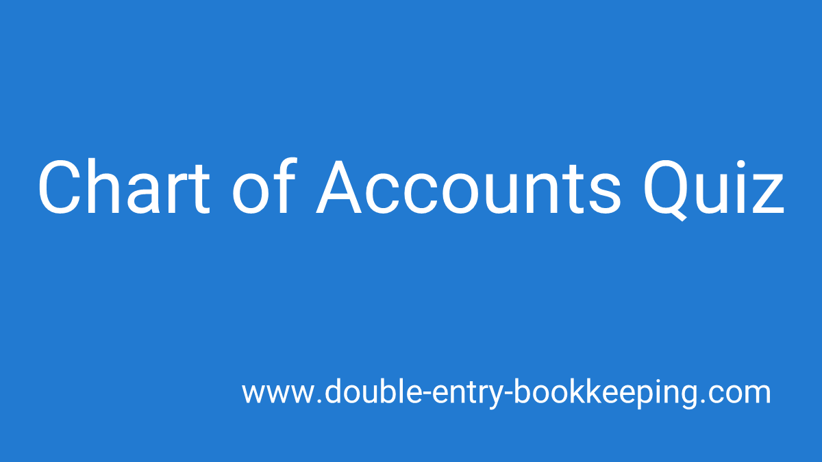 chart of accounts quiz