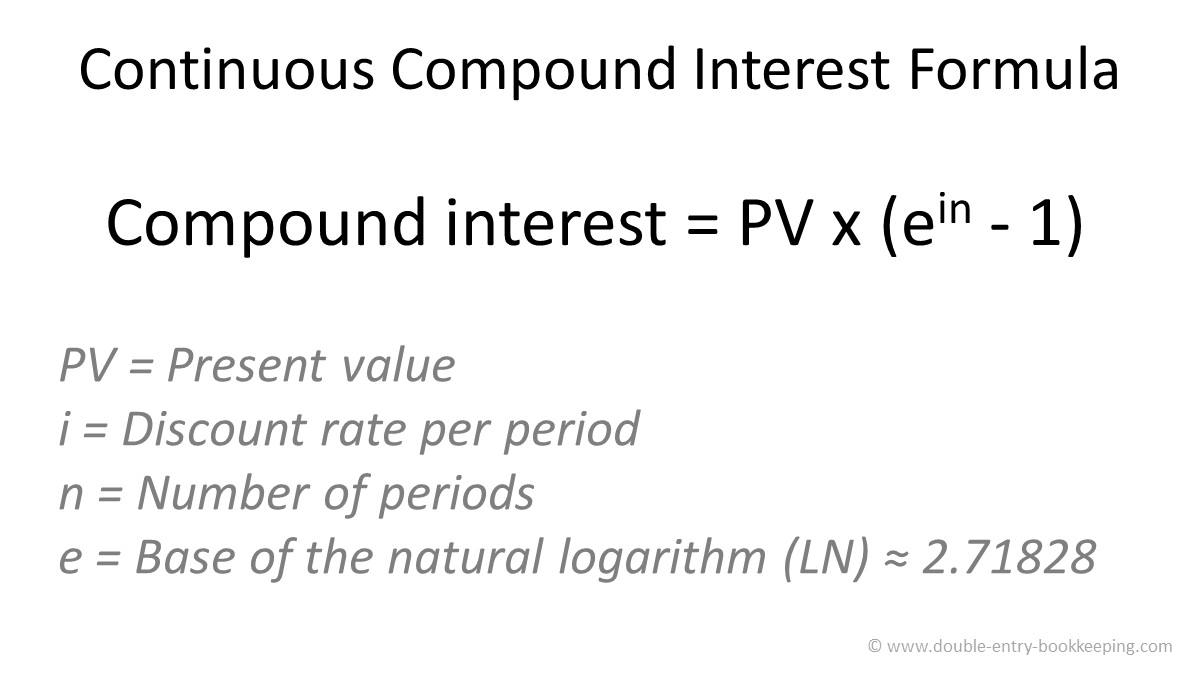 continuous compound interest formula