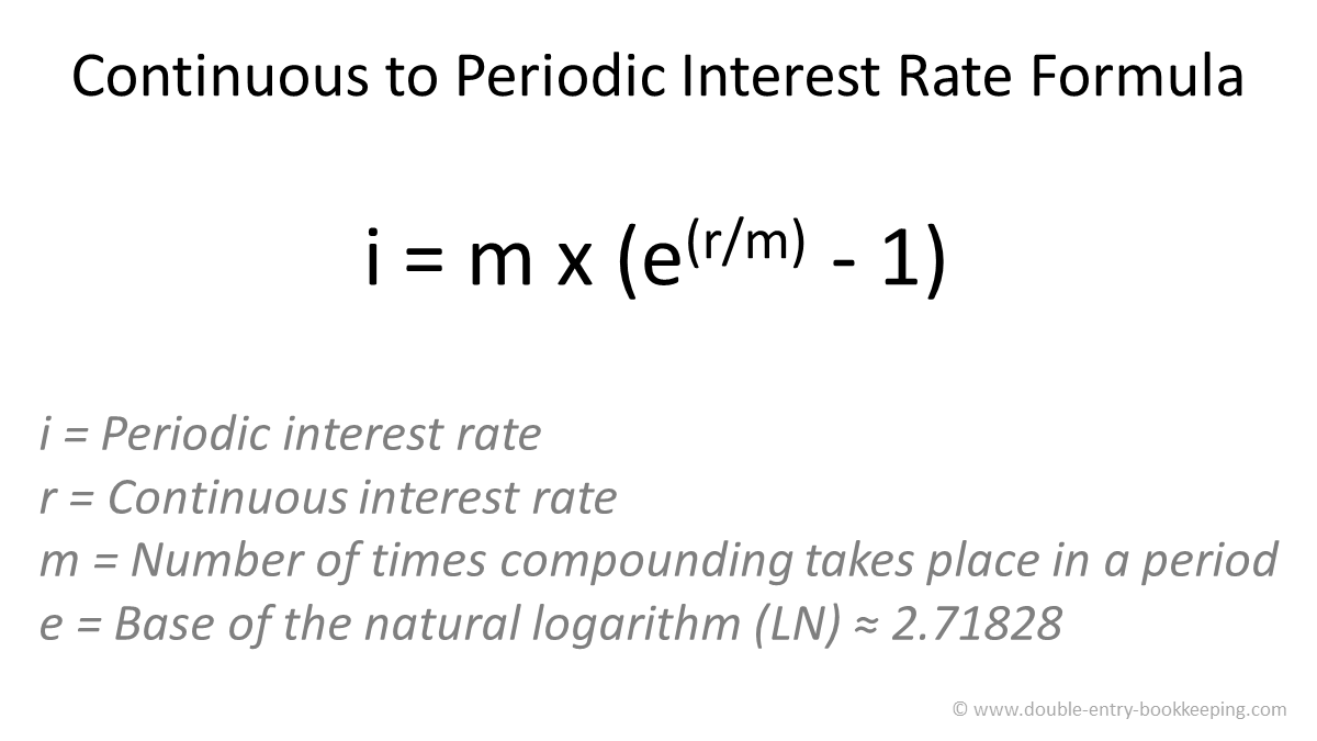 continuous to periodic interest rate formula