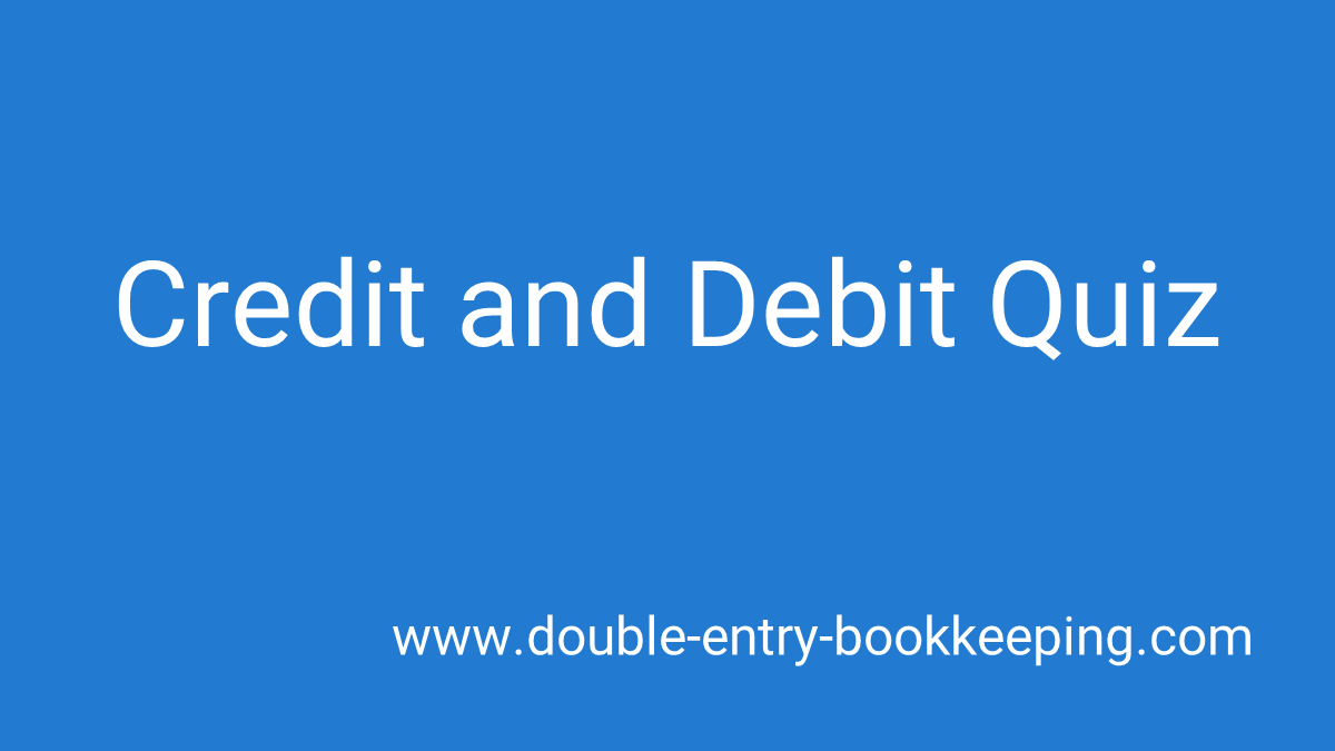 credit and debit quiz