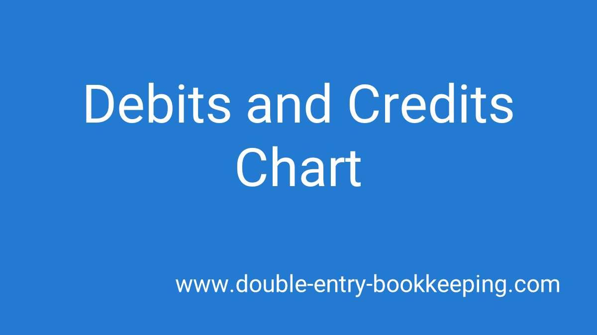 debits and credits chart