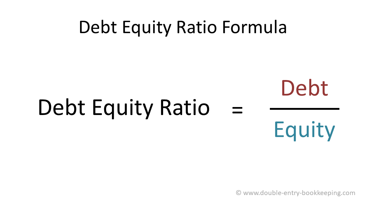 debt equity ratio formula