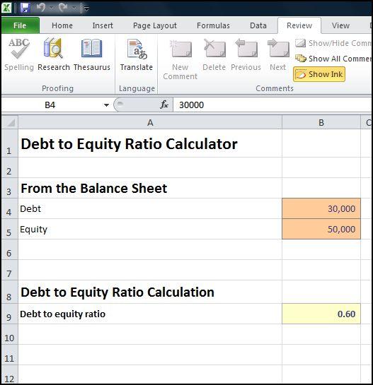 debt to equity ratio calculator v 1.1