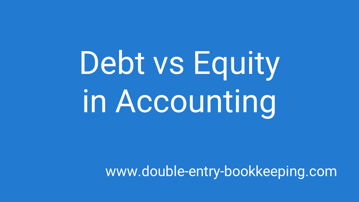 debt vs equity in accounting