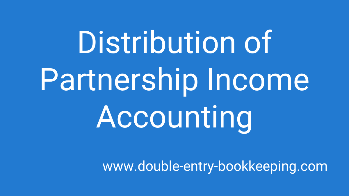 distribution of partnership income accounting