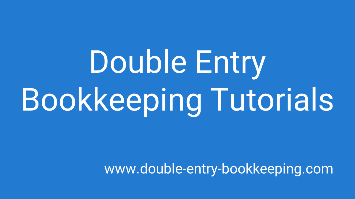 double entry bookkeeping tutorials