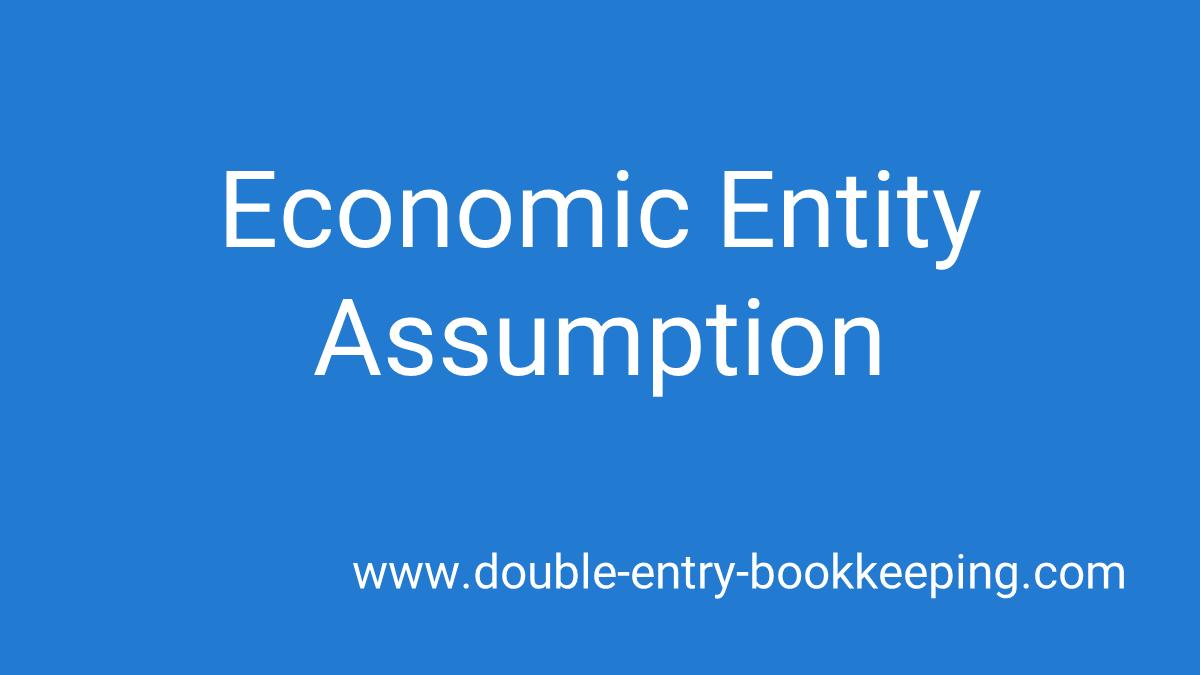 economic entity assumption