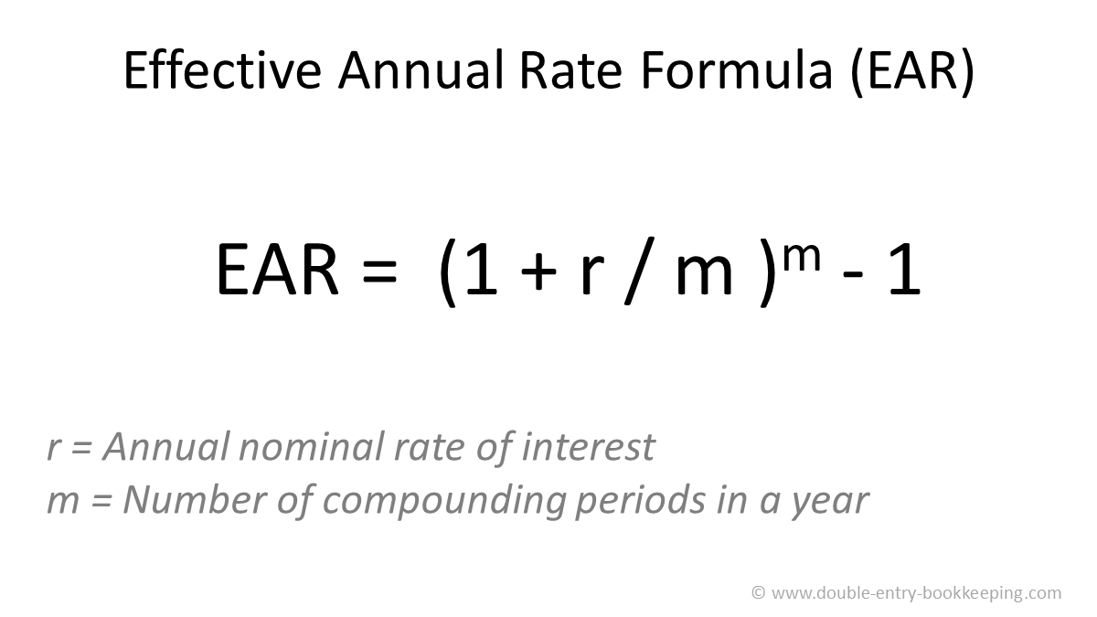 effective annual rate formula