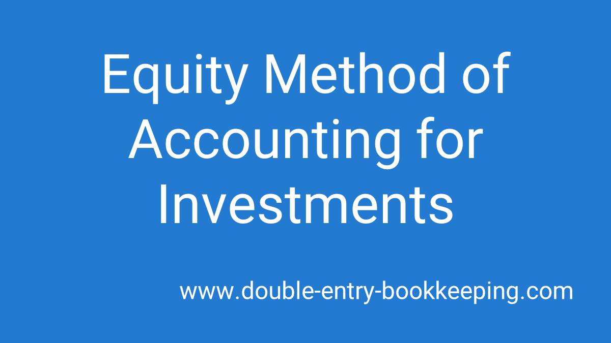equity method of accounting for investments