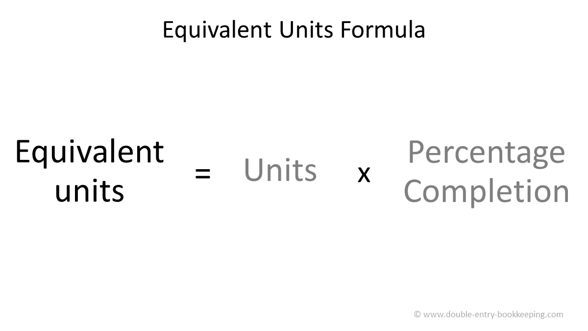 equivalent units fifo method formula