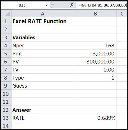 excel rate function v 1.0