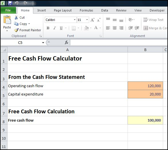 free cash flow calculator v 1.0