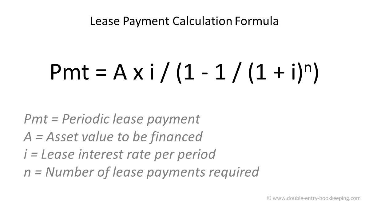how to calculate a lease payment
