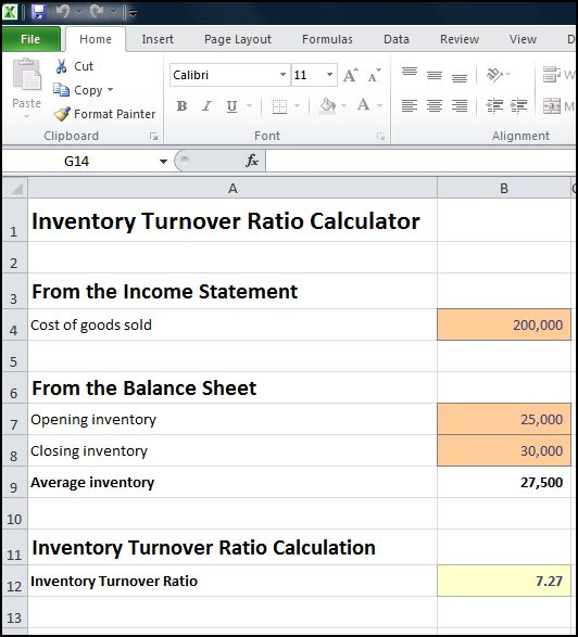 inventory turnover ratio calculator v 1.1