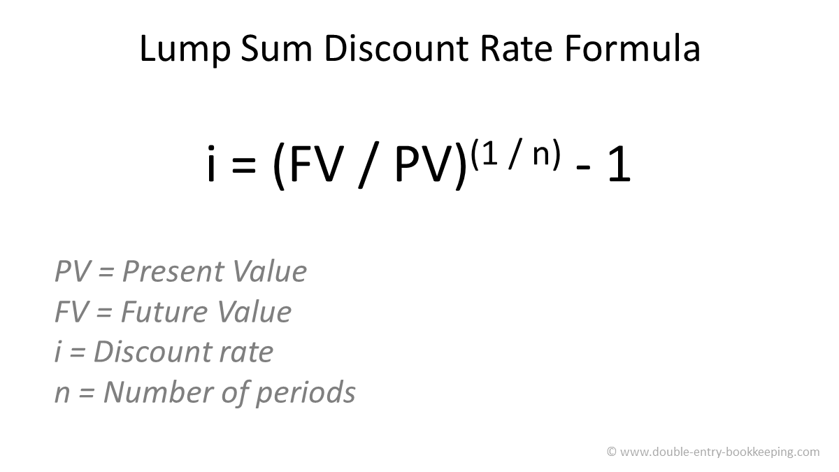 lump sum discount rate formula