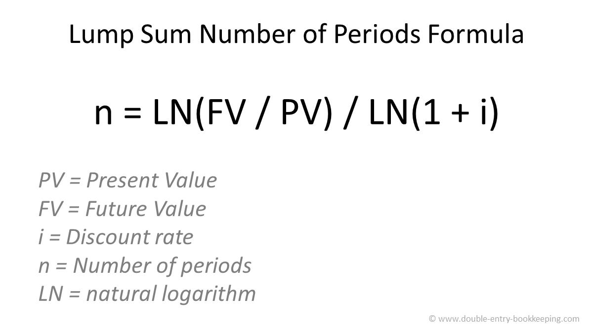 lump sum number of periods formula