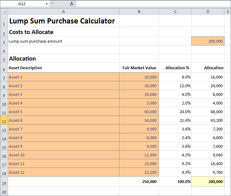 lump sum purchase calculator v 1.01