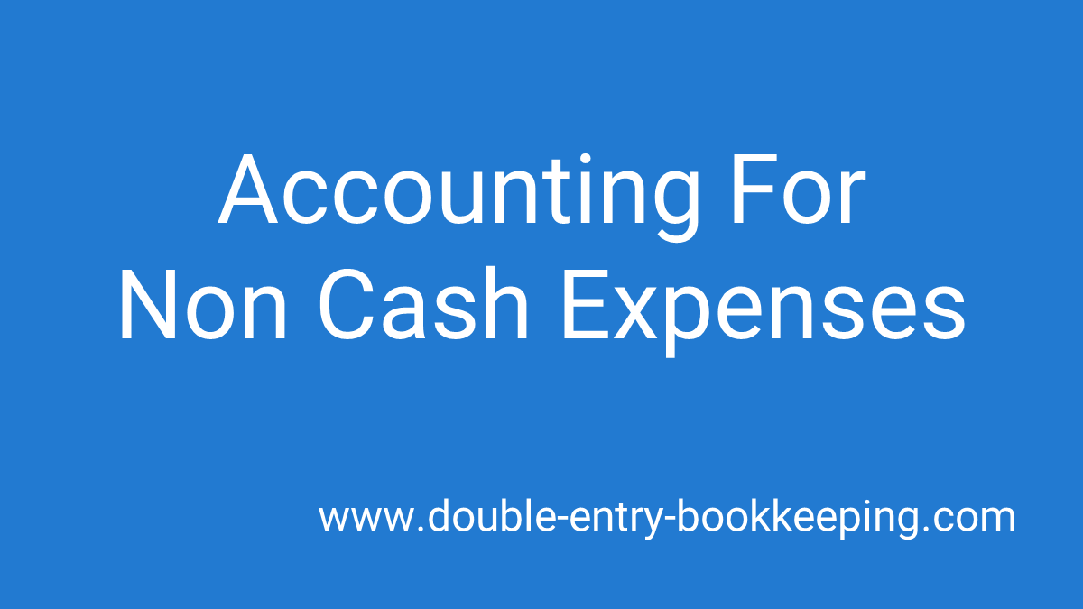 non cash expenses