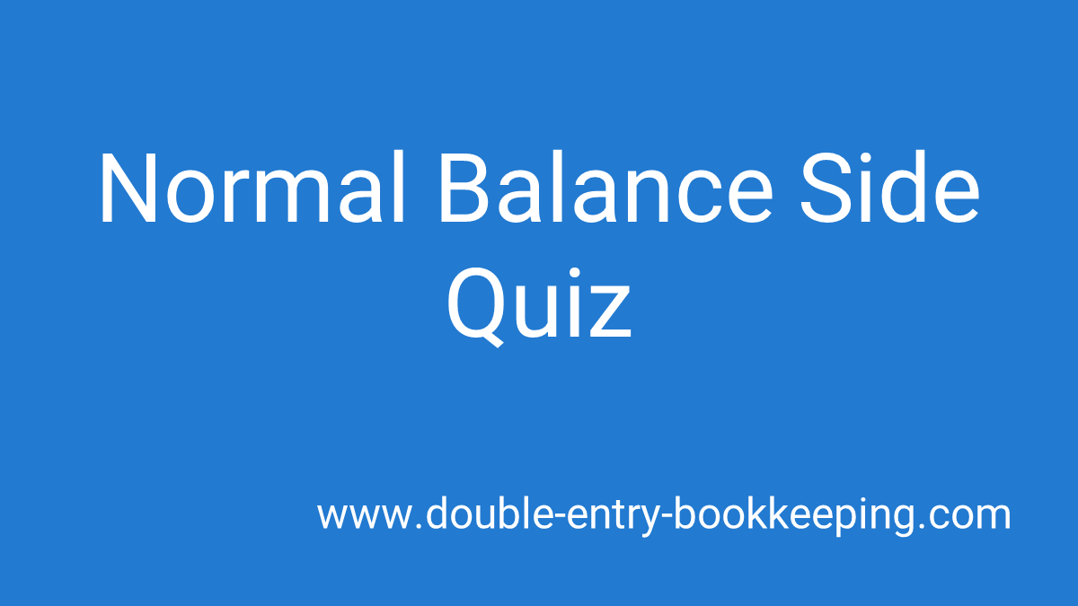 normal balance side quiz
