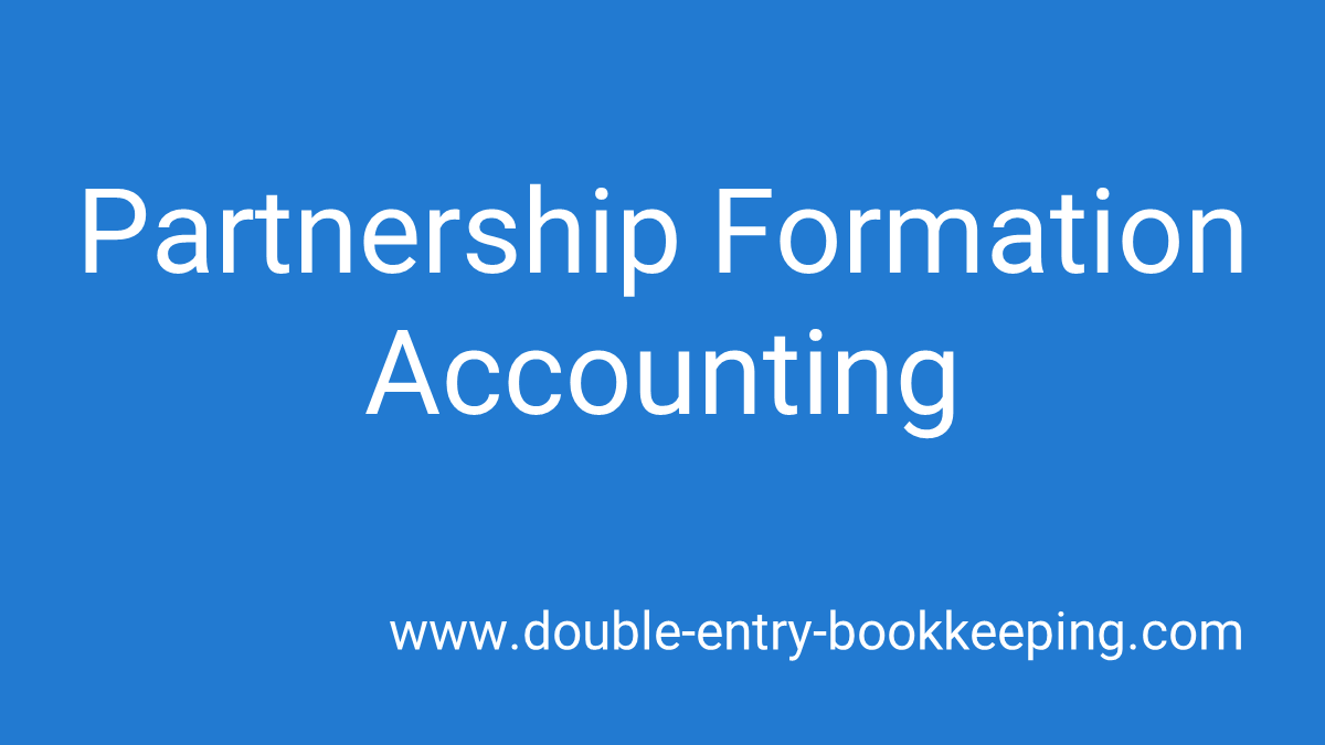 partnership formation accounting