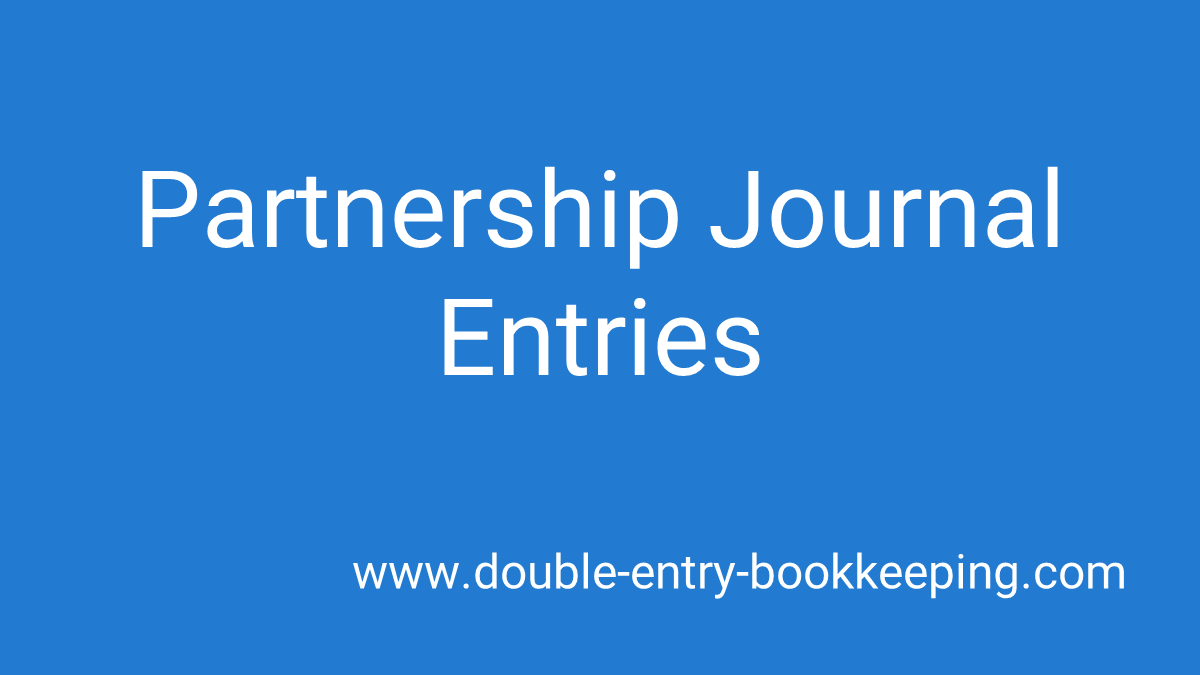partnership journal entries