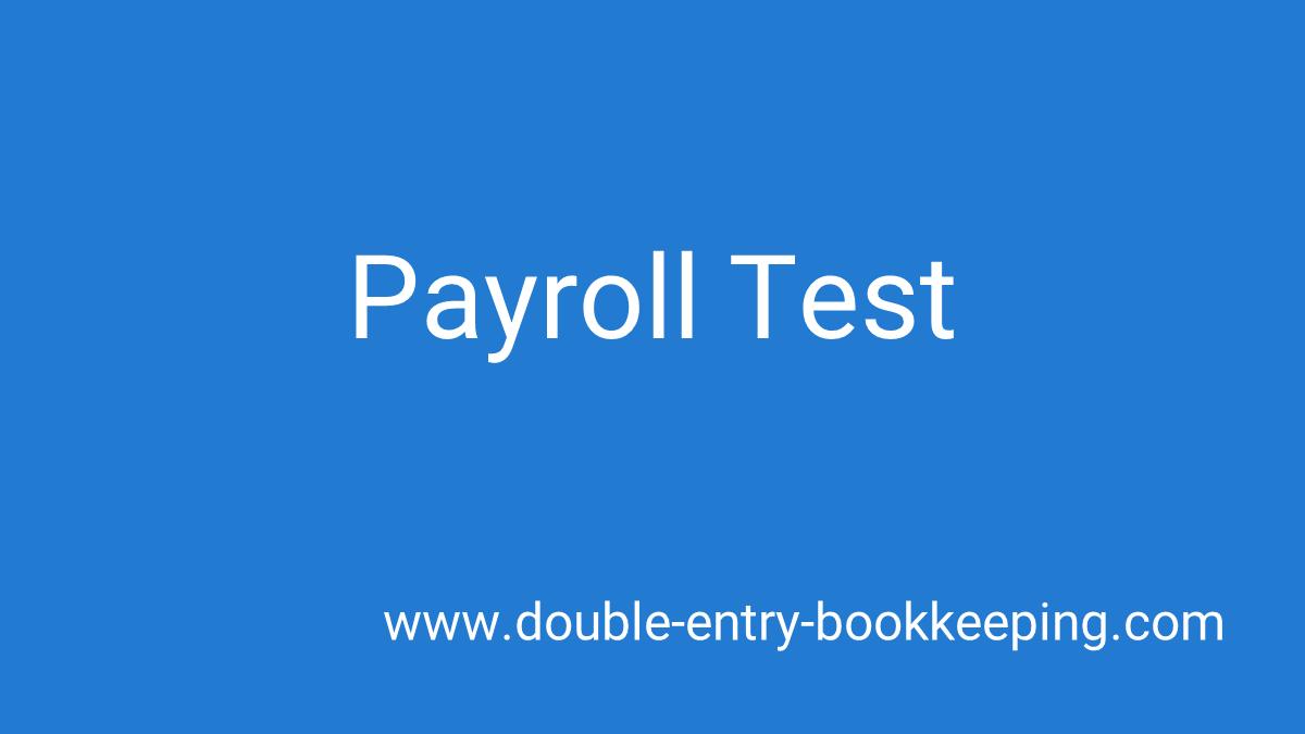 payroll test