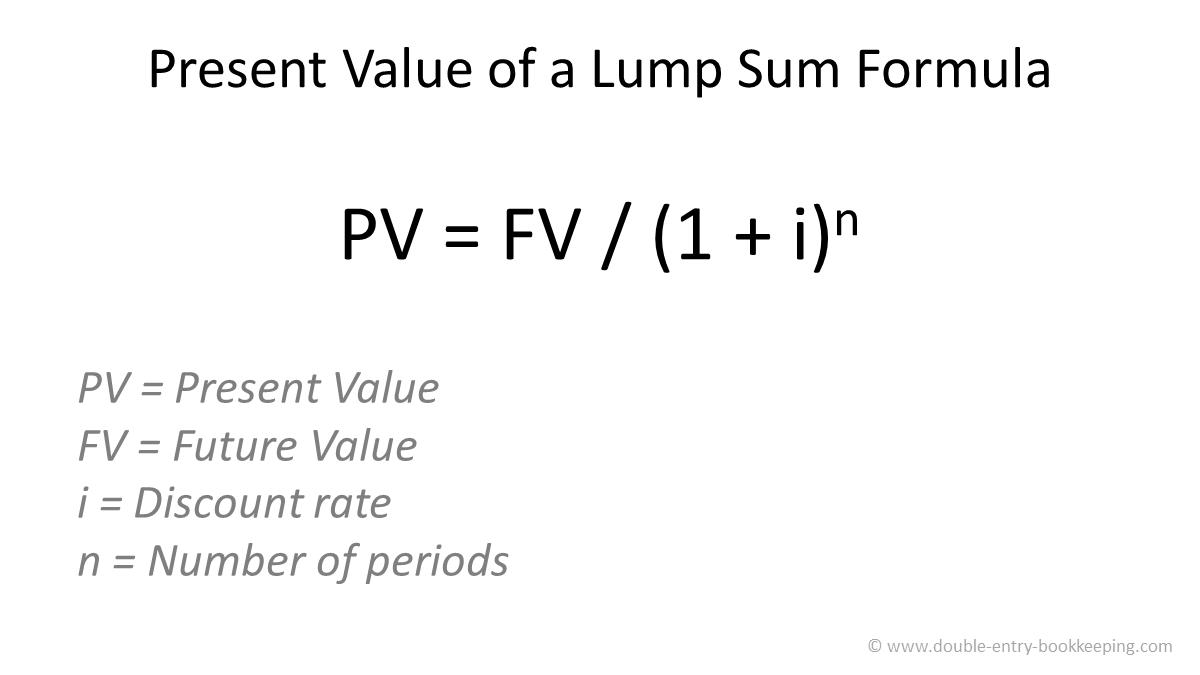 present value of a lump sum formula