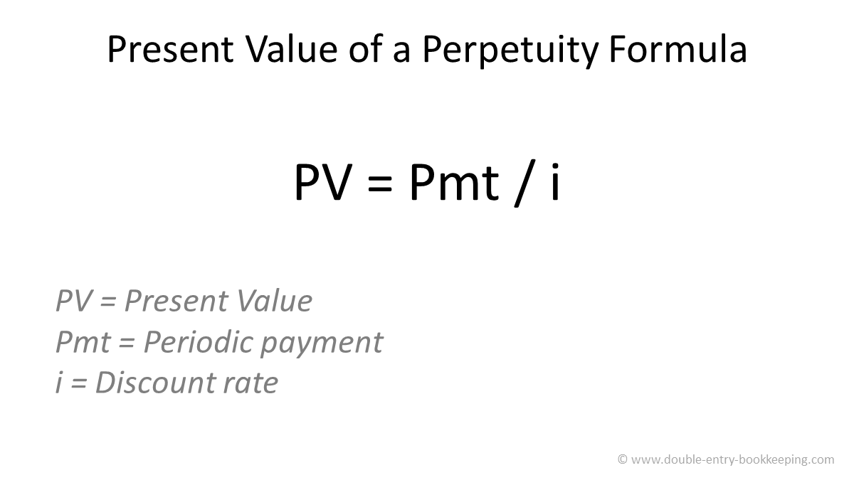 present value of a perpetuity formula