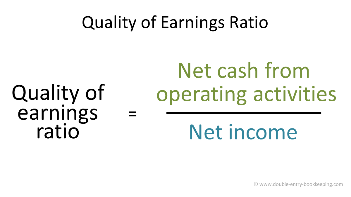 quality of earnings ratio formula
