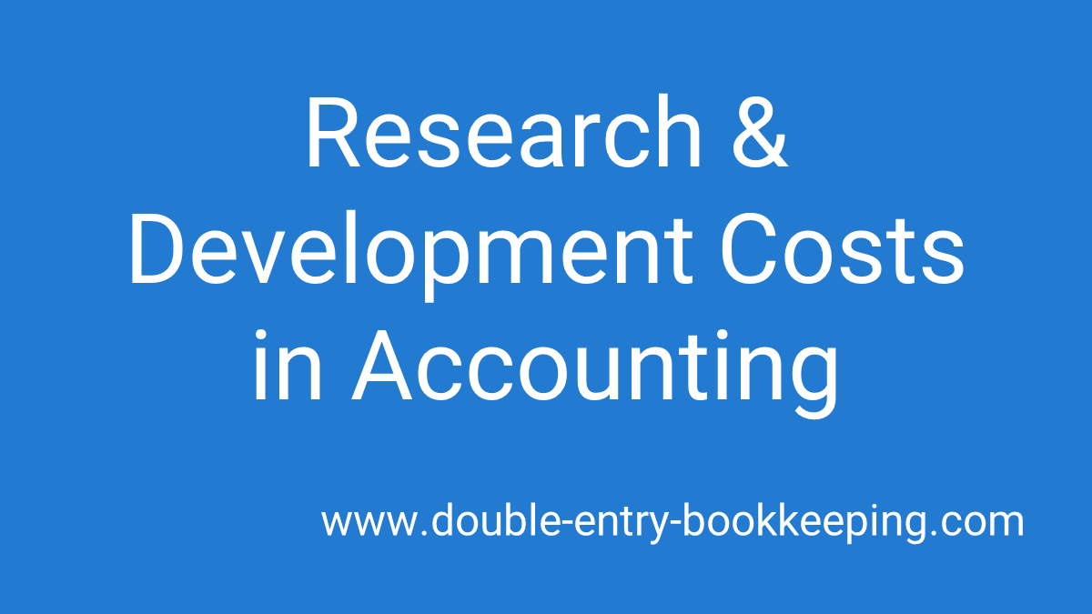 r and d costs in accounting