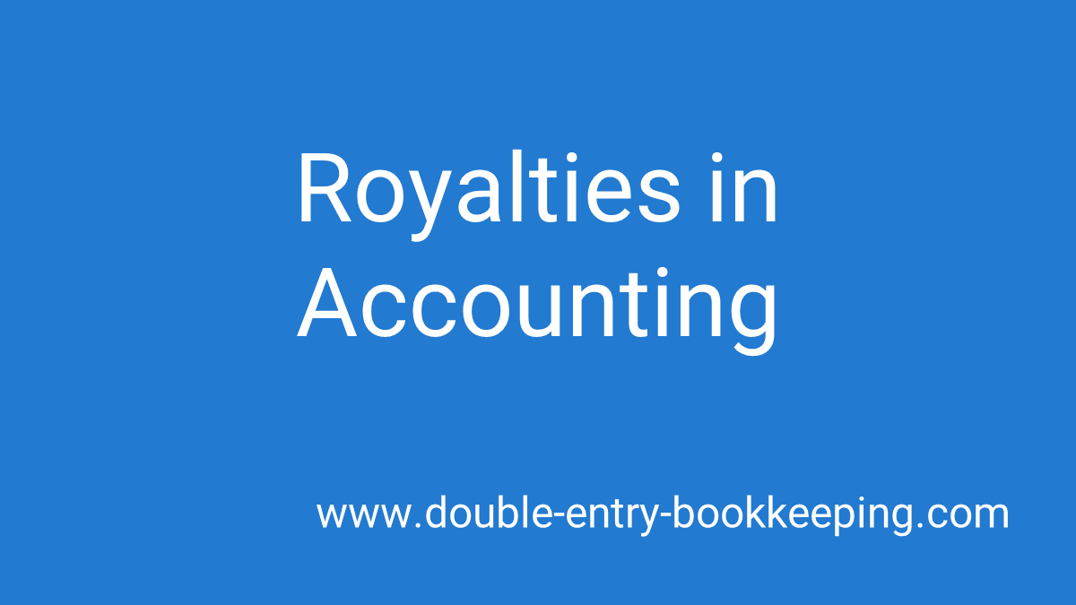 royalties in accounting
