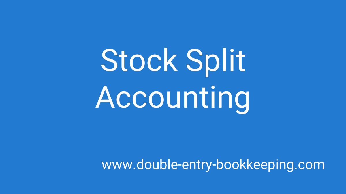 stock split accounting