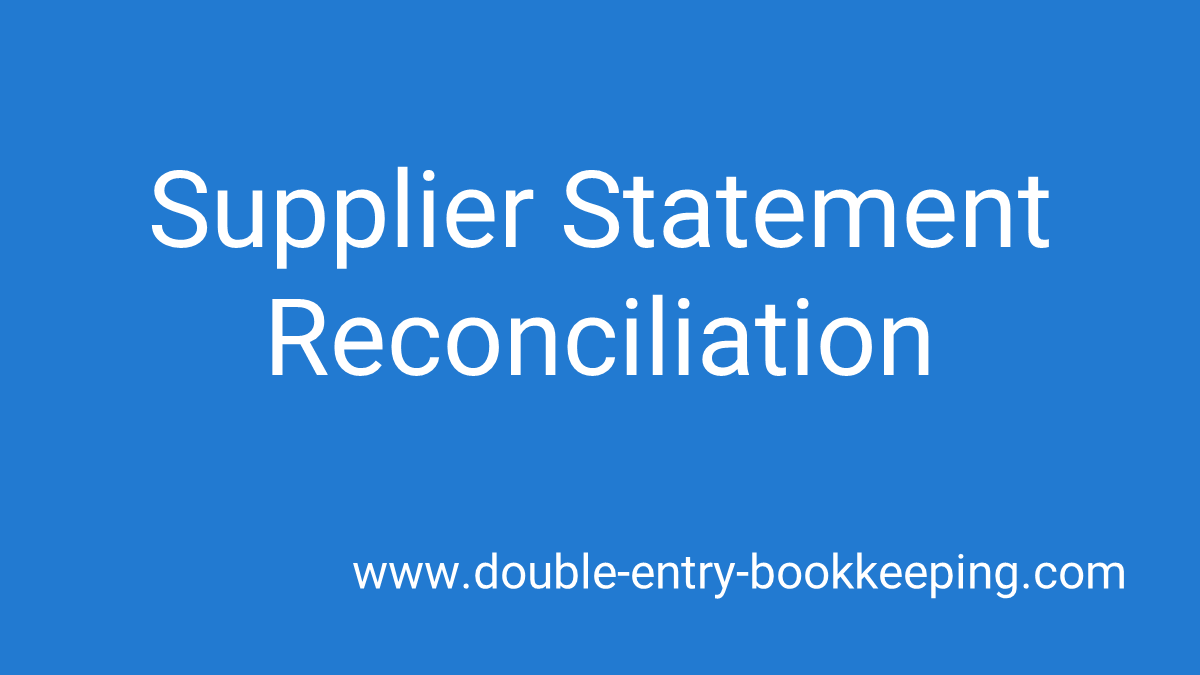 supplier statement reconciliation