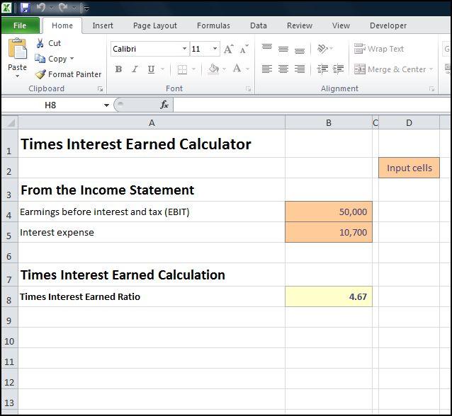 times interest earned calculator v 1.0